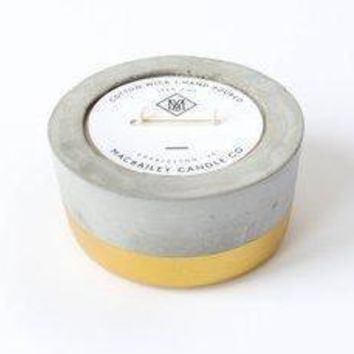 Scented Soy Candle in Gold Dipped Concrete