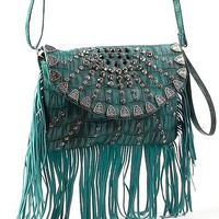 Studded Fringe Crossbody Purse - Women's Bags | Buckle