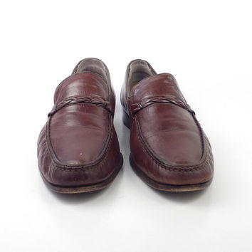 Bally Loafers Shoes Vintage 1980s Leather Brown Men's size 8 1/2 M