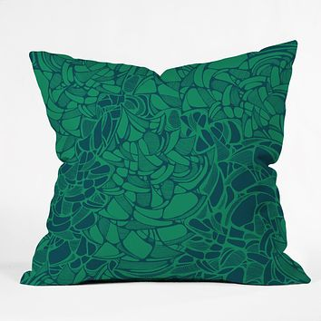 Karen Harris Carillon Peacock Emerald Throw Pillow