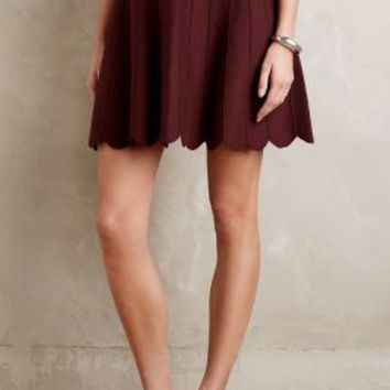 Knitted & Knotted Carmenere Sweater Skirt in Wine Size: