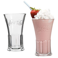 Bulk Coca-Cola Clear Flared Glasses, 16 oz. at DollarTree.com