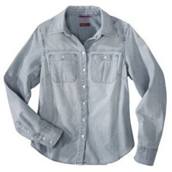 Merona® Women's Favorite Denim Shirt - Blue