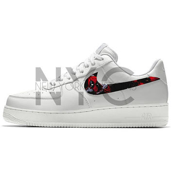 the best attitude 528c1 37b4f Deadpool Nike Air Force 1 Custom Men Women   Kids