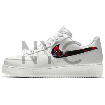 Deadpool Nike Air Force 1 Custom Men Women   Kids cec80efb3e