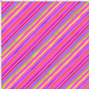 Calico Stripe Pink Fabric