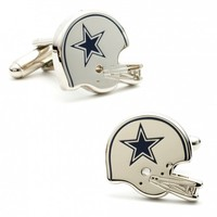 NFL Mens Retro Dallas Cowboys Helmet Cufflinks with Collectible Gift Box