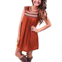 Pumpkin Spice Shift Dress | The Rage
