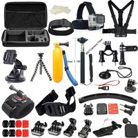 MCOCEAN Accessory Kit for GoPro Hero 1/ 2/ 3/ 3+/ 4 - Black (27 Items)