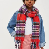 Heavy Check Scarf | Topshop