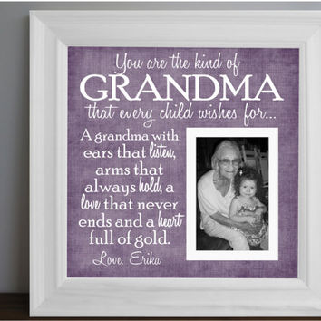 grandmother frame grandma picture frame grandparent personalized frame wooden frame square frame