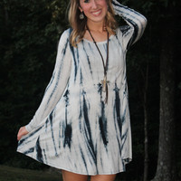 Ivory and Teal Tunic Dress