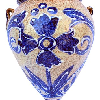 Wall Flower Pot - Spanish Orza de Pico (Spanish Azul) - Hand Painted in Spain