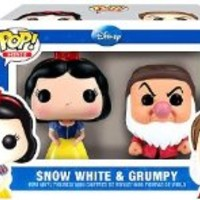 "Funko's SNOW WHITE & GRUMPY 2.5"" POP VINYL FIGURE SET, Mint in Box"