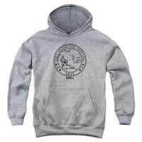 PARKS & REC/PAWNEE SEAL-YOUTH PULL-OVER HOODIE - HEATHER -