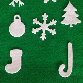 Die Cut Snowflakes Felt, Die Cut Shapes,36 pcs. Style #1 White Snowflake for Christmas , Wax dipping