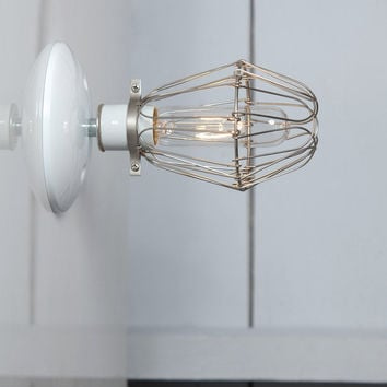 Cage Sconce Wall Light - Vintage Cage Lamp