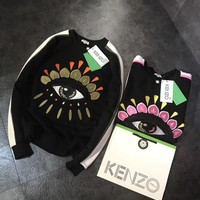 One-nice™ KENZO Women Fashion Eye Embroidery Top Sweater Hoodie