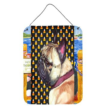 French Bulldog Frenchie Candy Corn Halloween Wall or Door Hanging Prints LH9552DS1216