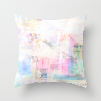 Summer Pastel Throw Pillow by Marie-Pier Cadorette