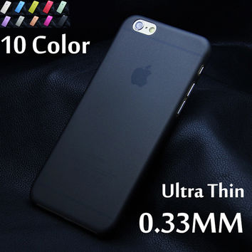 Matte Transparent Ultra-thin Back Case For iPhone 7 plus 4 4S 5 5S 5c SE 6 6s plus PC Protective Cover Skin Shell