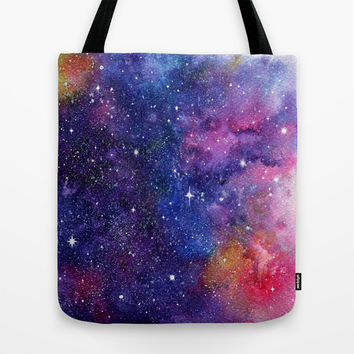 Galaxy Tote Bag by Miss L In Art