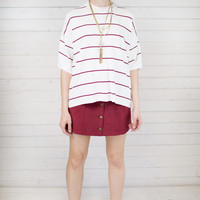 Varsity Stripe Boxy Top