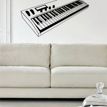 Electric Keyboard Piano Art Decal Sticker Wall Vinyl