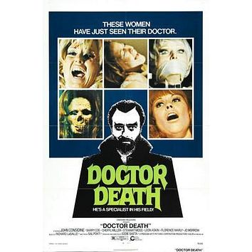 Doctor Death Movie poster Metal Sign Wall Art 8in x 12in