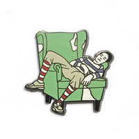 Chilling French Guy Enamel Pin