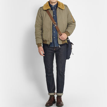 J.Crew - Wallace & Barnes Shearling-Collar Bomber Jacket | MR PORTER