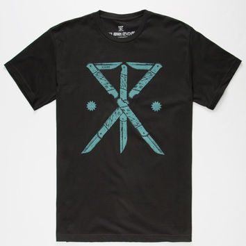 Roark Play With Knives Mens T-Shirt Black  In Sizes