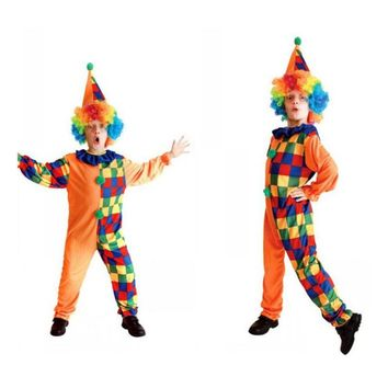 Kids Clown Costumes Clown Cosplay Costume For Boy Halloween Costume for Kids Play Children Cosplay Costumes 4 to 10 Years Old