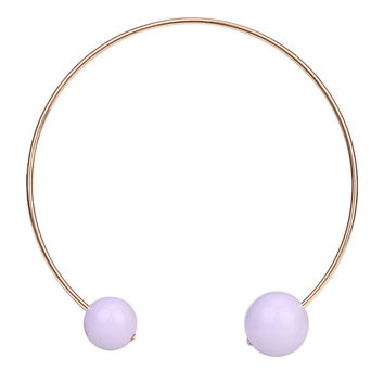 Tribal Collection Necklace Pearl Baby Purple Double Size Necklace