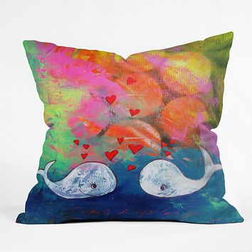 Sophia Buddenhagen I Whale Always Love You Throw Pillow