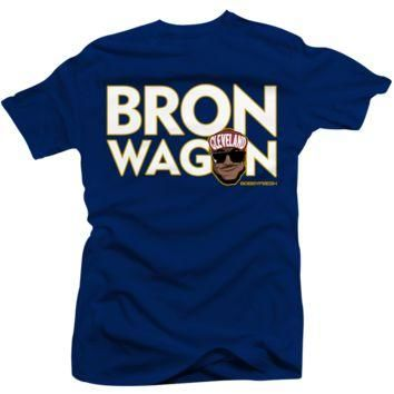 Jordan 7 Bordeaux Lebron Wagon Navy T Shirt