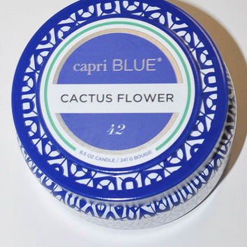 Capri Blue Travel Tin 8.5 oz. - Cactus Flower