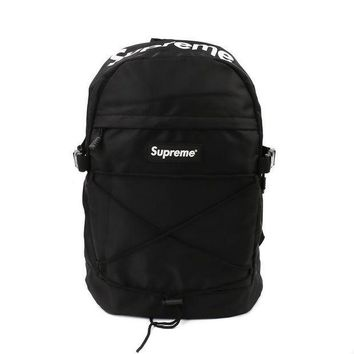 "Black ""street fashion supreme"" Stylish Backpack"