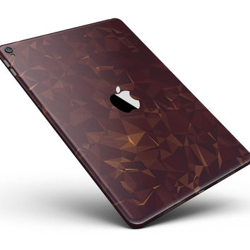 "Brown and Copper Abstract Geometric Shapes Full Body Skin for the iPad Pro (12.9"" or 9.7"" available)"