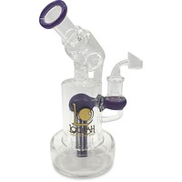 "8"" Shower Perc Lookah Water Pipe"