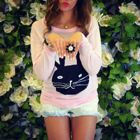 Hunny Bunny Pink Knit Easter Sweater