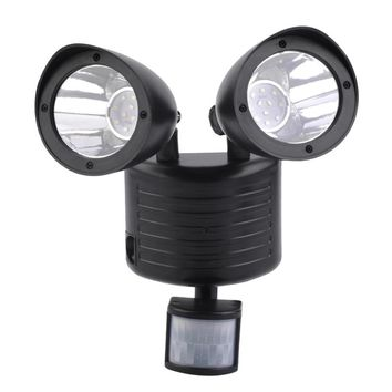 Black High Performance 5.5V/180mA Super Bright 22LED Solar Powered Motion Sensor Security Light Garden Garage Outdoor
