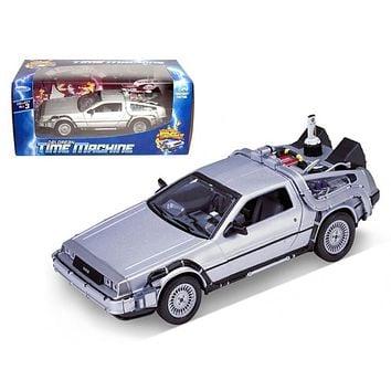 """Delorean From Movie \Back To The Future 2\"""" 1/24 Diecast Car by Welly"""""""
