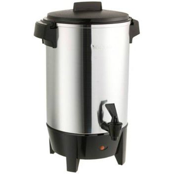 West Bend® 58030 Quick Brewing Coffee Urn, Polished Aluminum, 30-Cup, 1090W