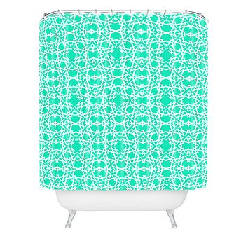 Lisa Argyropoulos Electric In Sea Green Shower Curtain