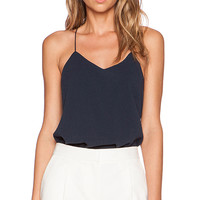 Tibi Savanna Strappy Cami in Navy