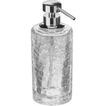 Addition Crackled Glass Table Pump Liquid Soap Lotion Dispenser for Bath Kitchen