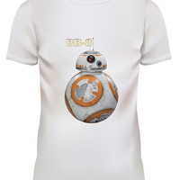 Unisex Star Wars BB-8 Droid White T Shirt Size S M L XL