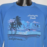 80s Huntington Beach California Beach Sweatshirt Medium