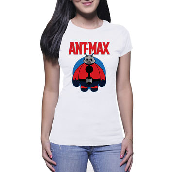 Ant-Max Womens T Shirts Black And White